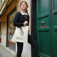 Shopping Bag by Chiara Farsaci Limited Edition 100% cotone